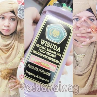 MakeUp by Salon BnB, Hijab by me. :D